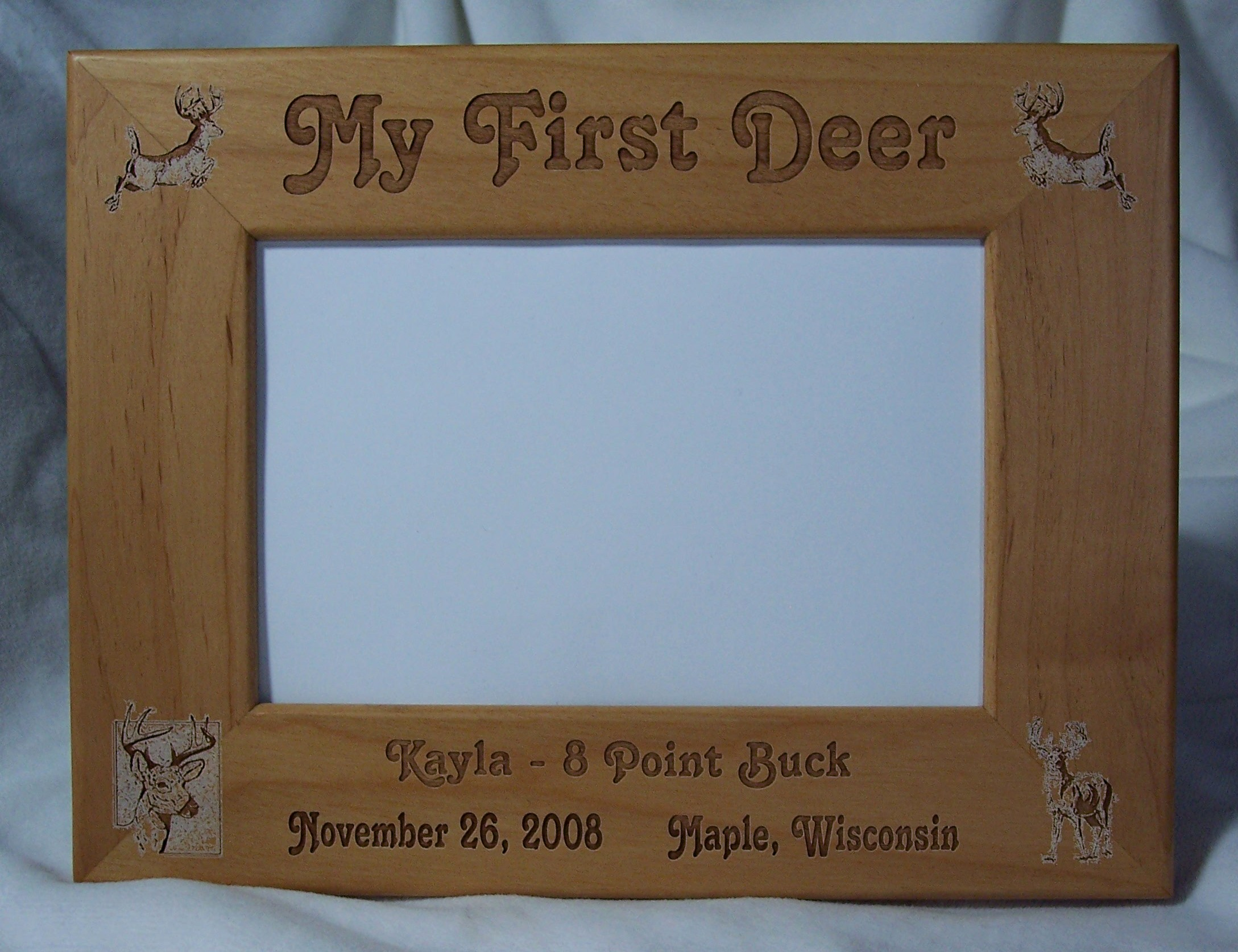 Treasured Haven Farm Engraved Alder Picture Frames Straight Edge