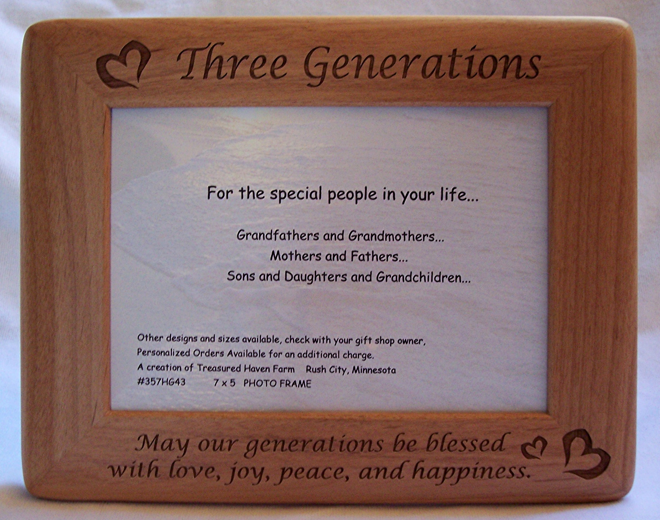 Engraved Picture Frames, Wood, Glass, Personalization