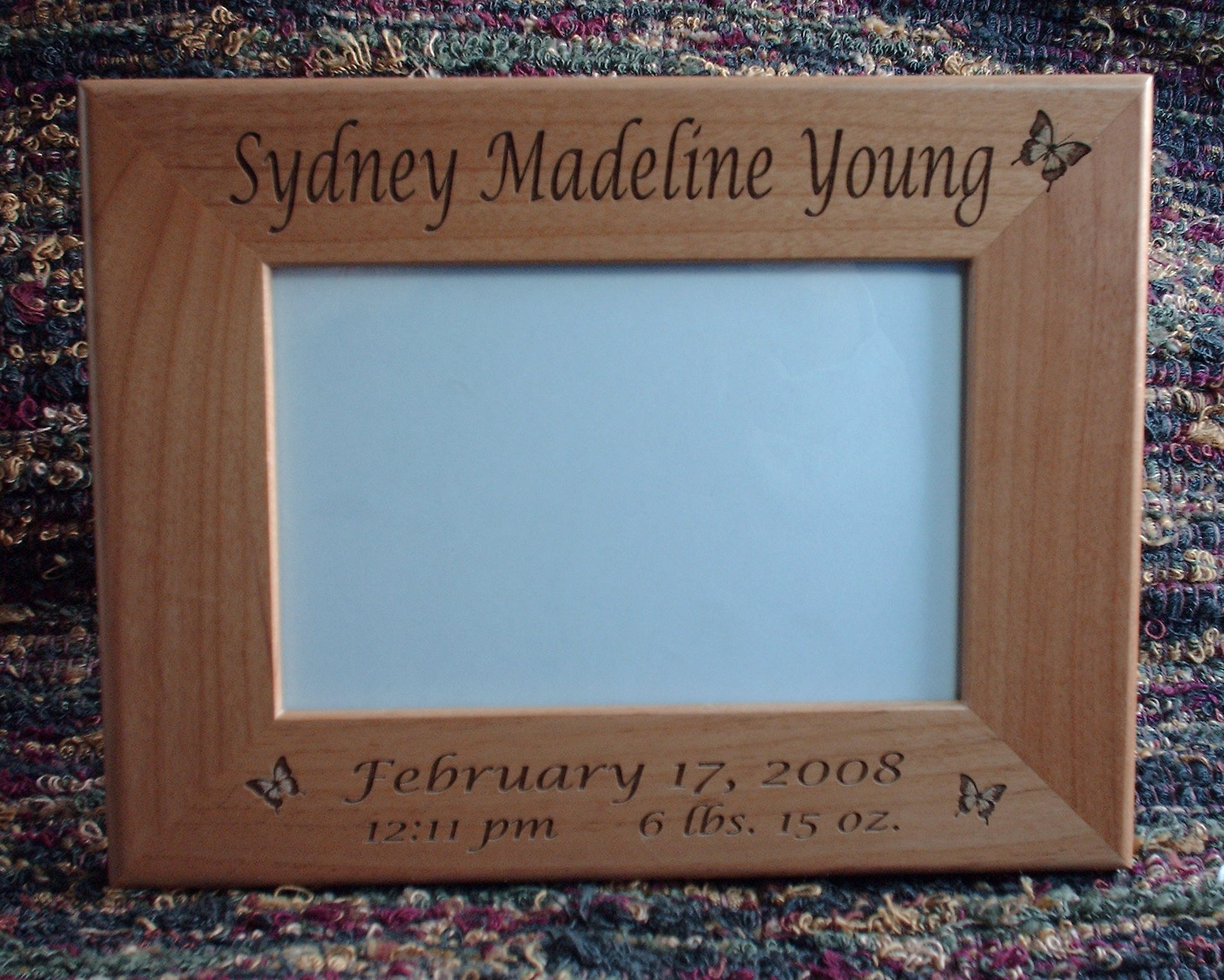 engraved picture frames wood glass personalization - Engraved Picture Frame