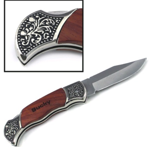 Engraved Wood Handle Hunting Knives Pocket Knives And Tools